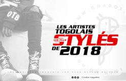 LES ARTISTES TOGOLAIS LES PLUS FASHIONS DE L'ANNEE 2018.