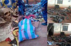 Plusieurs crânes et des corps humains découverts chez un féticheur au Togo dans la préfecture de Yoto.