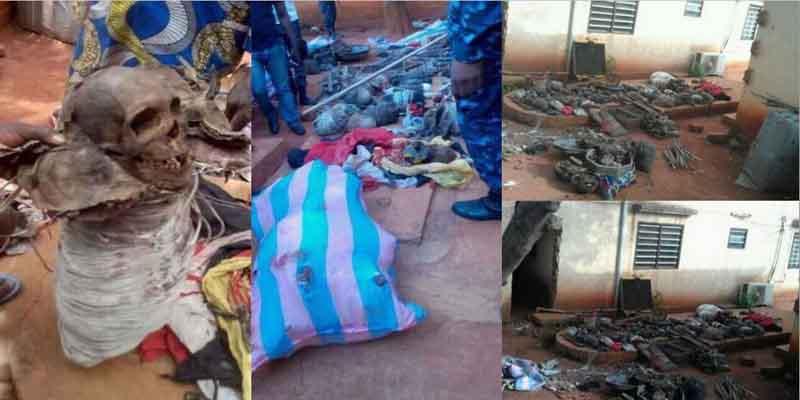 f889b13a2 Plusieurs crânes et des corps humains découverts chez un féticheur au Togo  dans la préfecture de