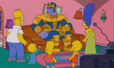 Thanos utilise son Gant de l'Infini sur... Les Simpson !