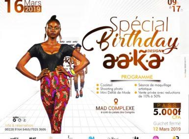 « Spécial Birthday aaka design » : Pourquoi nous devons y aller ?