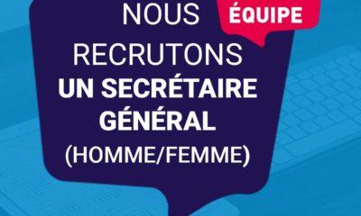 RECRUTEMENT SECRÉTAIRE GÉNÉRAL