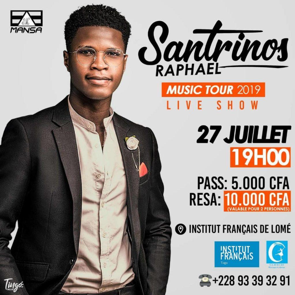 Santrinos Raphaël music Tour 2019