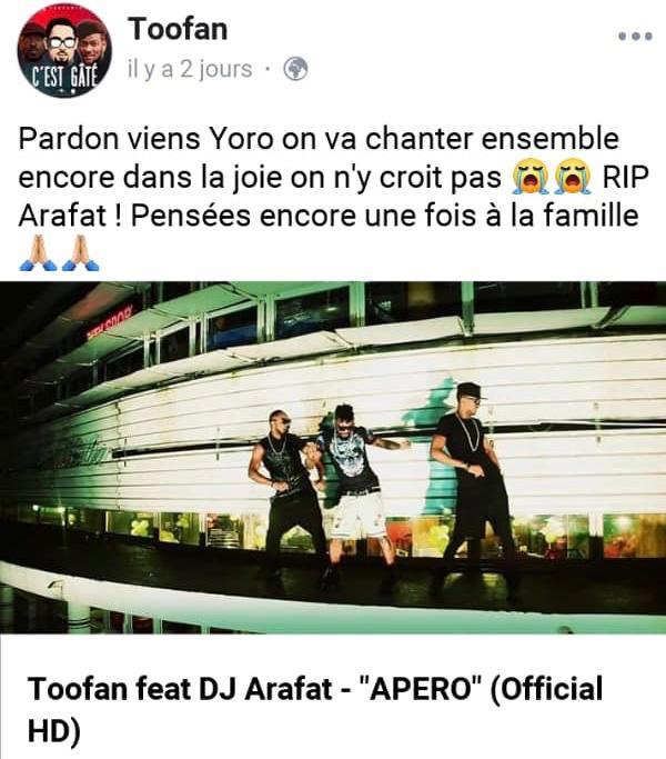 hommages à DJ Arafat