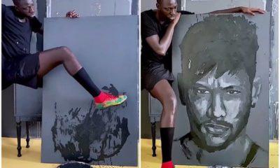 peint Neymar avec ses crampons