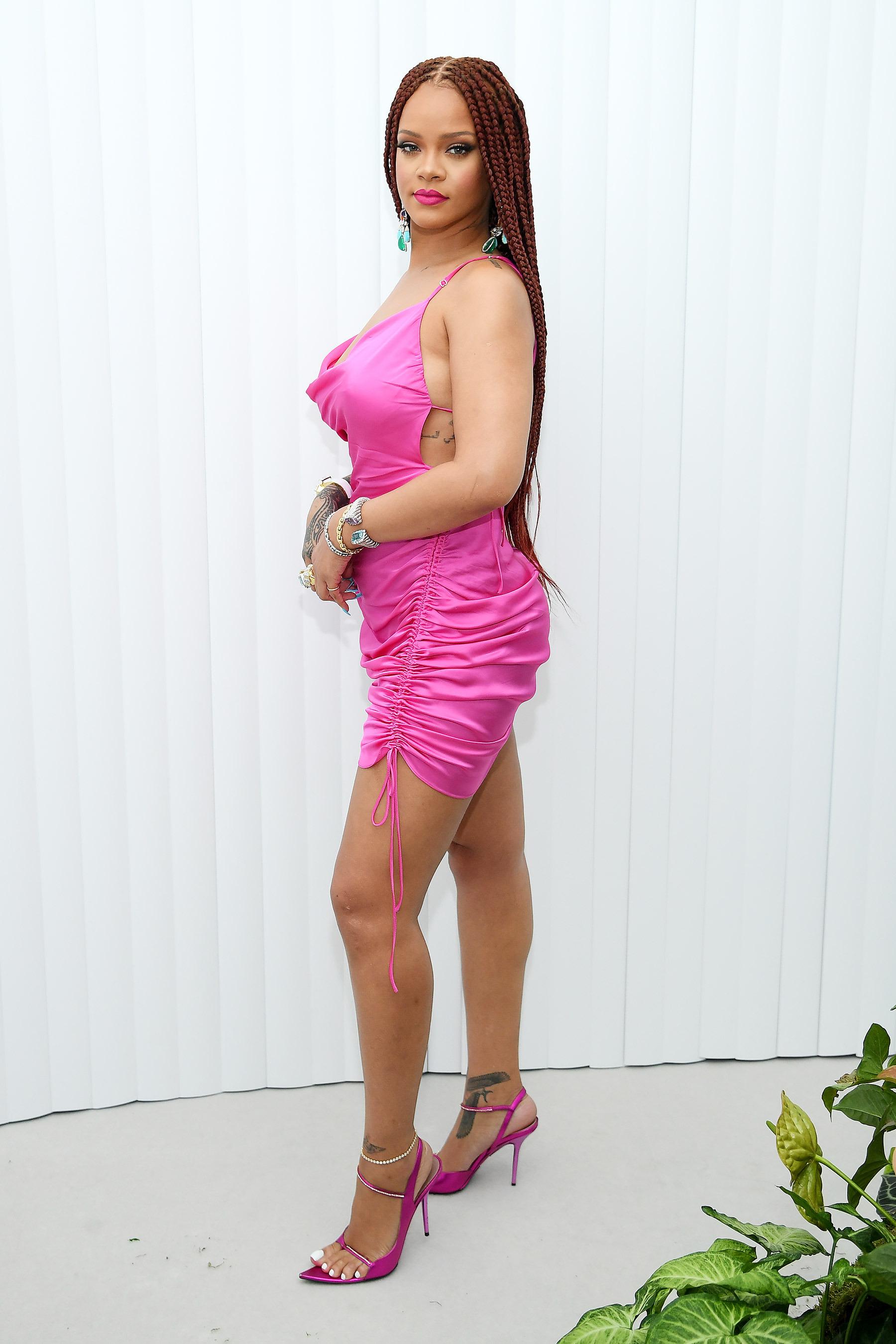 Rihanna slip dress