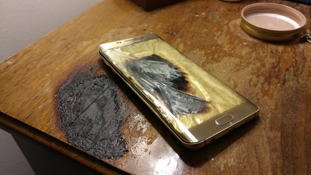 explosion de son téléphone