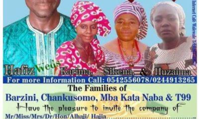 épouser trois femmes.