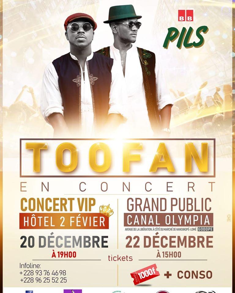 Toofan en concert à Lomé