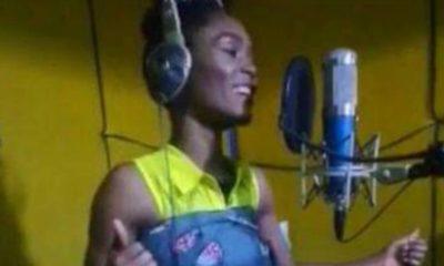 Togo/Musique: Almok fait une prise de voix en studio avec son bébé