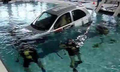 Après avoir renversé un piéton, il tente de cacher sa voiture sous une rivière