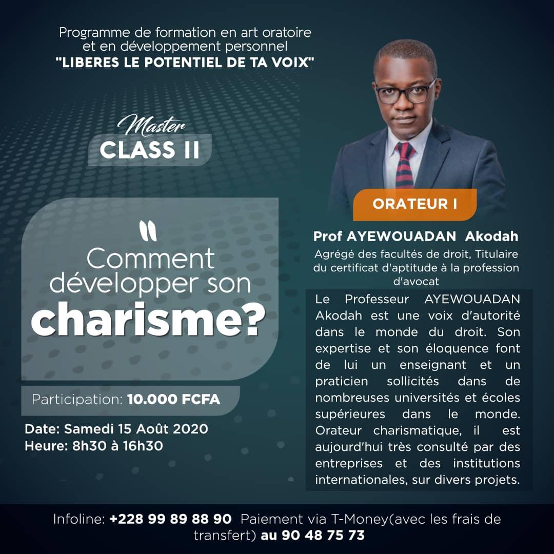"""""""Comment développer son charisme"""" : la master class qui fera de toi un orateur et un leader charismatique"""