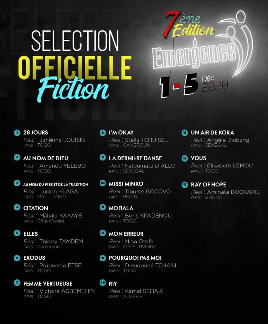 Le festival Émergence, 7 films togolais sélectionnés