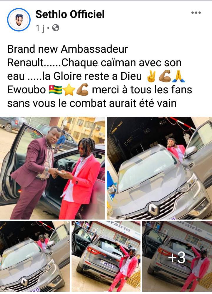 Sethlo ambassadeur de Renault, une Fake News ?