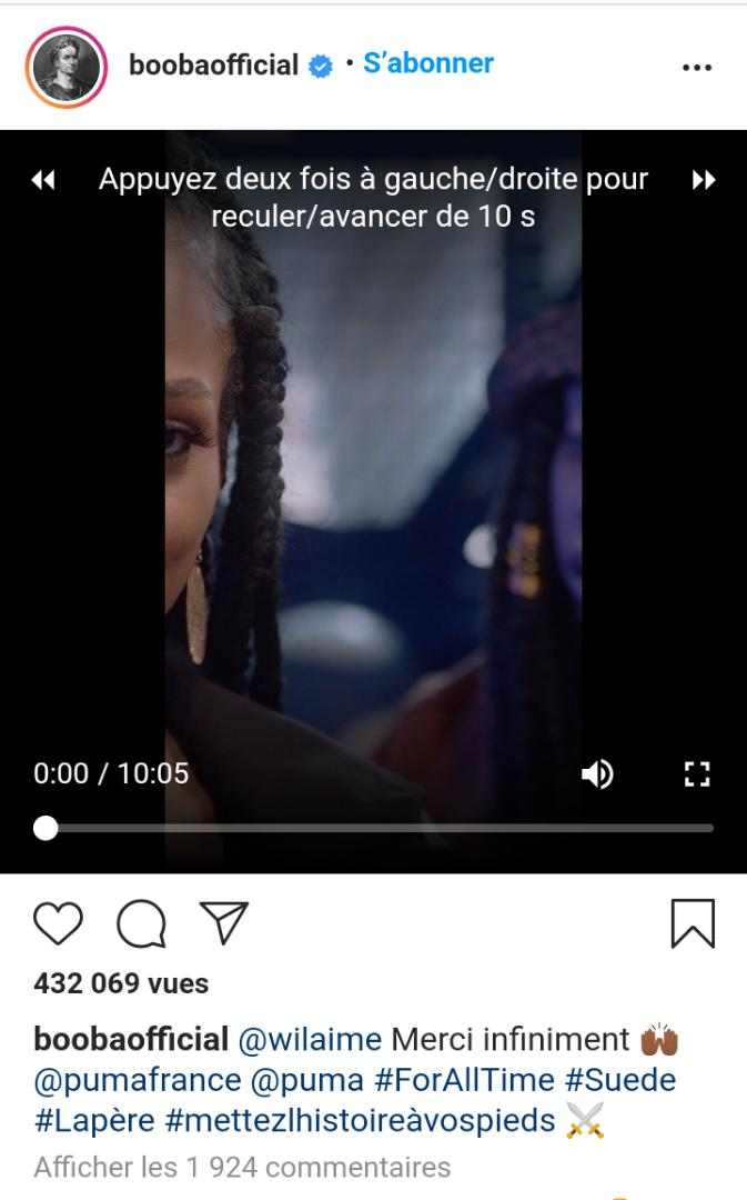Wil Aime est de retour en collaboration avec Booba et Puma (vidéo)