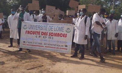Manifestation à l'université de Lomé