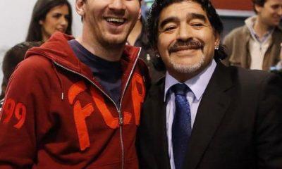 Hommage de Léo Messi à Maradona