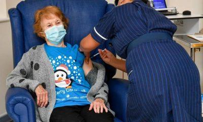 Margaret Keenan 1ere personne à recevoir le Vaccin contre la Covid-19
