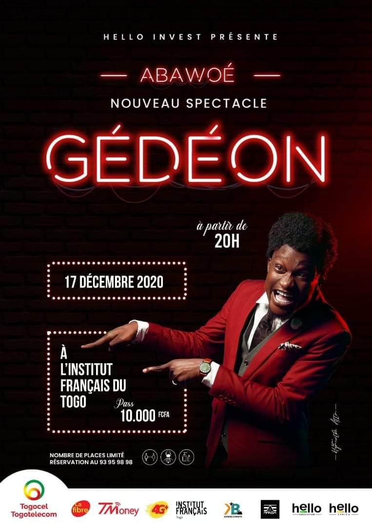 Gédéon : Le nouveau spectacle du professeur Abawoé aura lieu le 17 décembre prochain