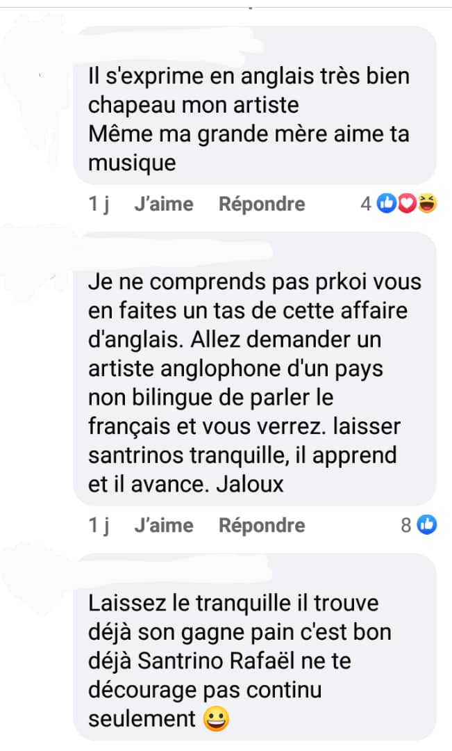 """Santrinos Raphaël : l'artiste vient de prouver qu'il maîtrise d'autres mots anglais à part ''Dagbé Dagbé"""" (vidéo)"""