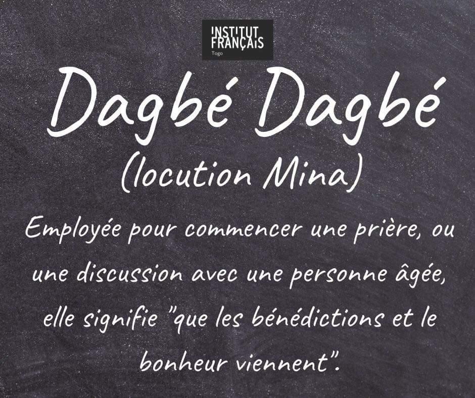 Dagbé Dagbé : l'Institut Français du Togo vole au secours de Santrinos avec ses cours de mina