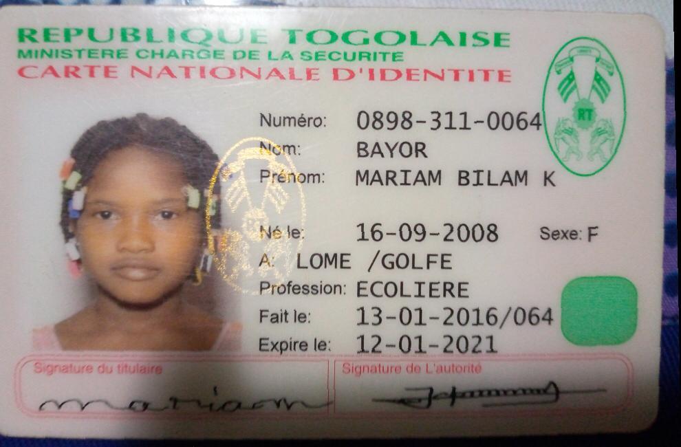 Togo/Disparition : aidez la famille Bayor à retrouver leur fille Mariam