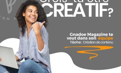 Tu aimes Gnadoe Magazine, tu te sens à la hauteur de notre folie, et tu aimerais rejoindre une équipe jeune, dynamique pour te perfectionner, te challenger et te faire connaître auprès d'une audience friande d'infos