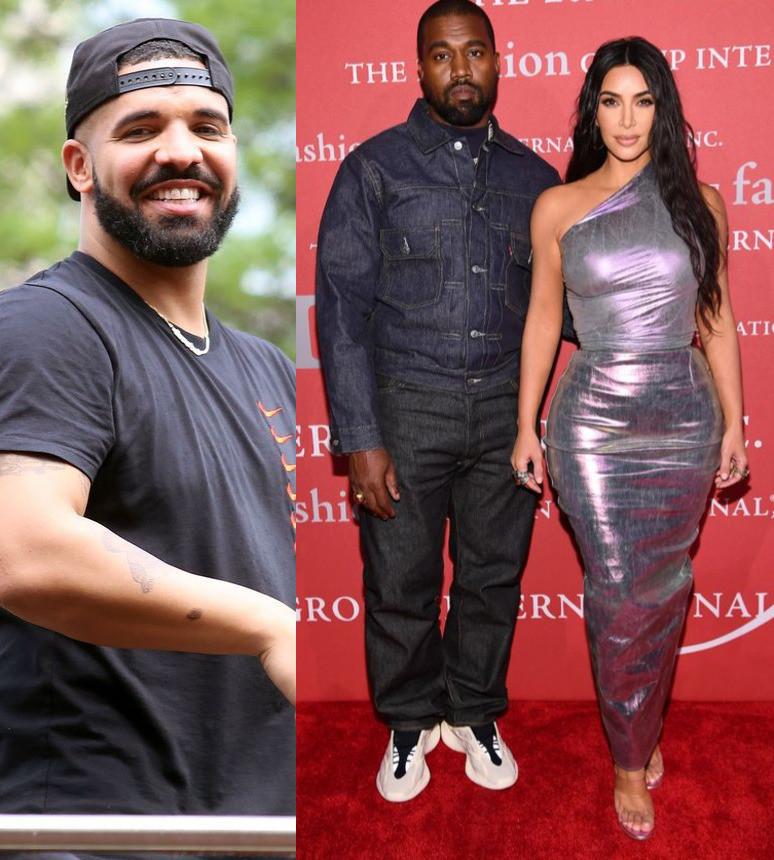 Drake Kim K, Kanye West