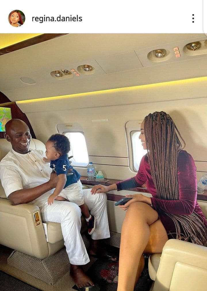 Regina Daniels, Ned Nwoko, fils Munir 1