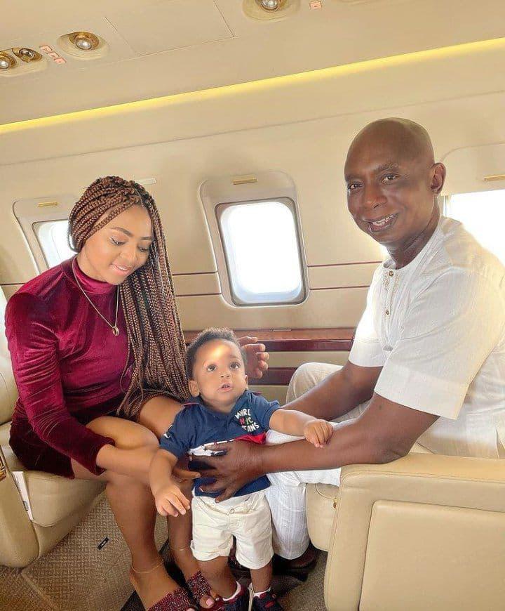 Regina Daniels, Ned Nwoko, fils Munir