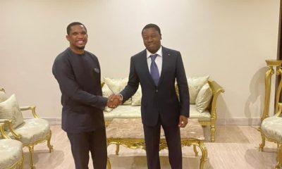 Samuel Eto'o et Faure Gnassingbé