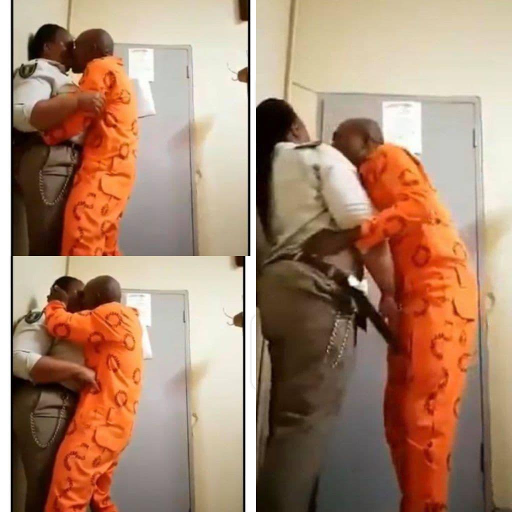 gardienne de prison déténu