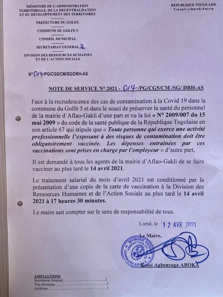 Togo : Gerry Taama réprimande le Maire du Golfe 5 pour son communiqué