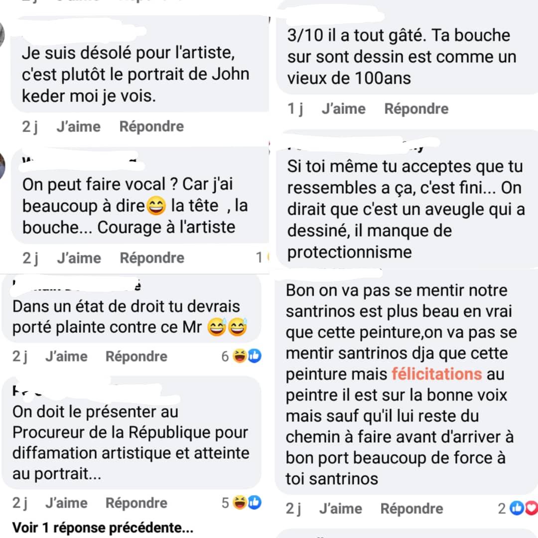 Togo : pour avoir réalisé un portrait de Santrinos Raphaël, ce jeune peintre a été moqué par les internautes
