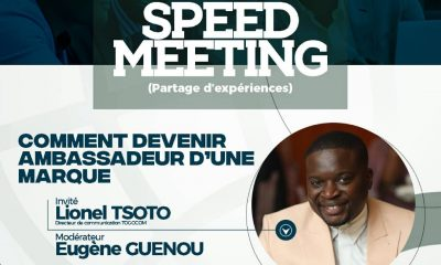 Speed Meeting : Lionel TSOTO vous montre comment devenir Brand Ambassador