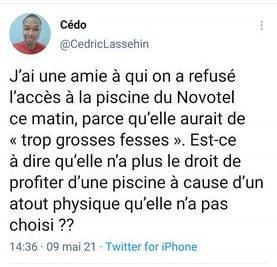 Bénin : par peur qu'elle ne séduise les clients avec ses grosses fesses, on refuse à cette dame l'accès à la piscine dans un hôtel