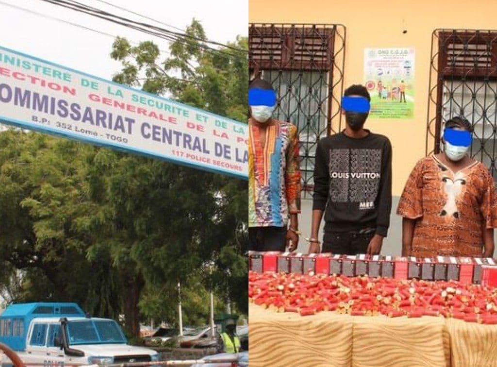 5 individus arrêtés police avec 1300 cartouches