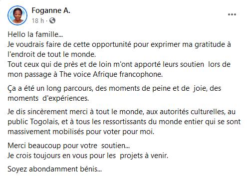 Foganne Message