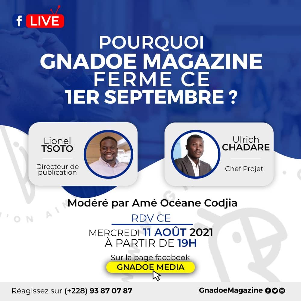 Gnadoe Facebook Live : Ulrich CHADARE et Lionel TSOTO vous explique tout !