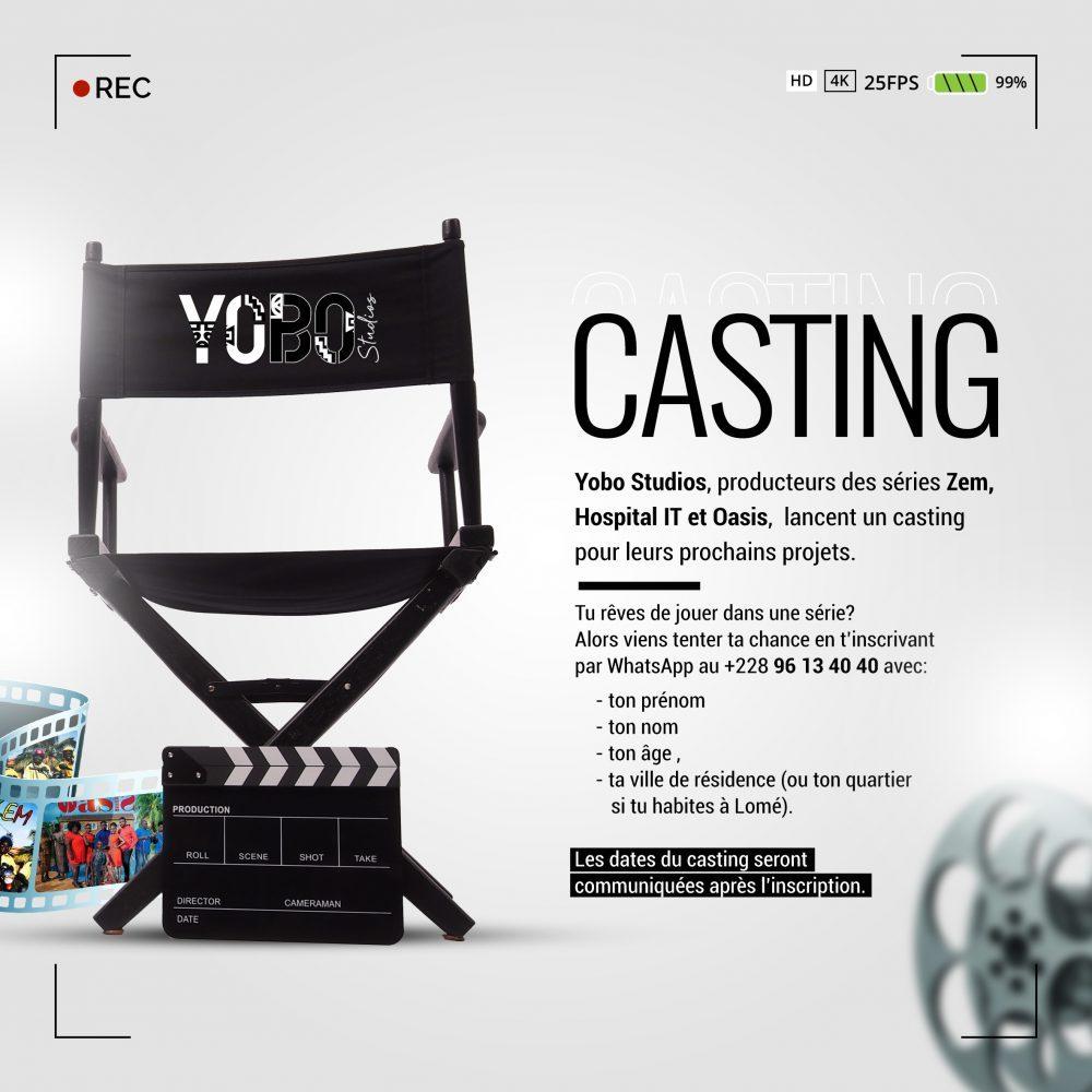 Yobo Studios : la société de production des séries OASIS, Hospital IT.. lance un casting de sélection